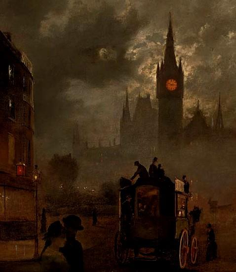 St. Pancras at night, 19th Century