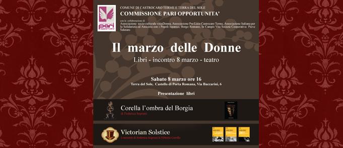 Il marzo delle donne – Presentazione a Castrocaro, 8-3-2014