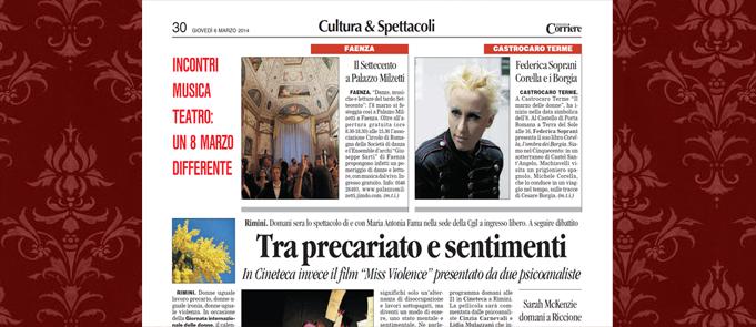 Romagna Corriere, 6-3-2014